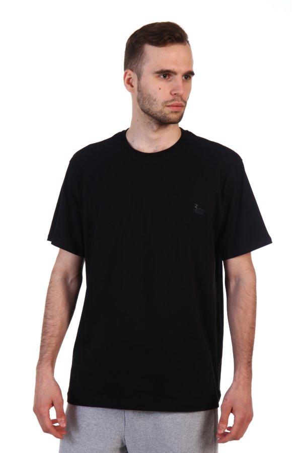 Футболка черного цвета для мужчин вид спереди