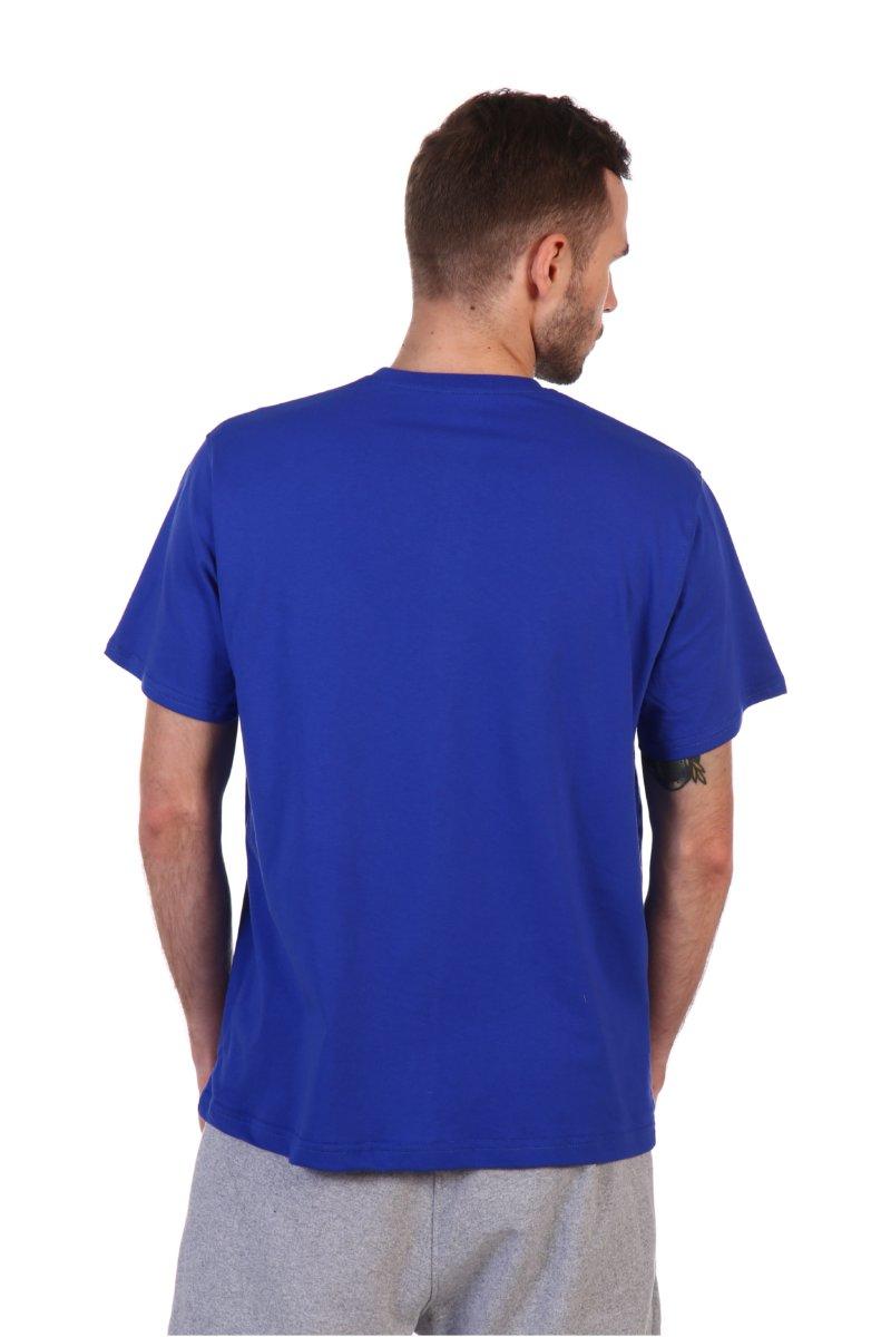 Футболка синяя классическая мужская.